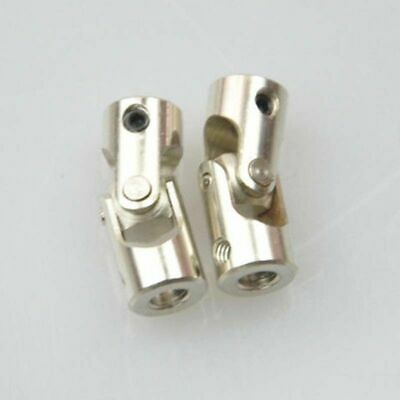 2x Universal RC Stainless Steel Joint Coupling RC Model Boat Parts 5mm To 5mm