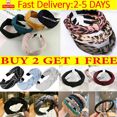 Women Fabric Hairband Twist Bow Knot Cross Headband Girl Hair Band Lady Headwear