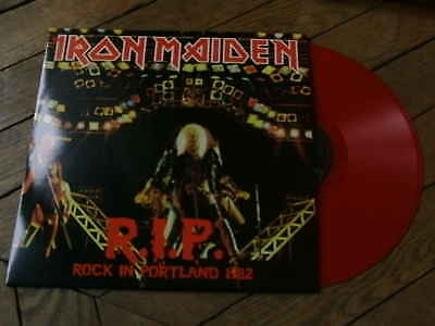 IRON MAIDEN RIP Rock in portland LP Live 82 Vinyl couleur + poster