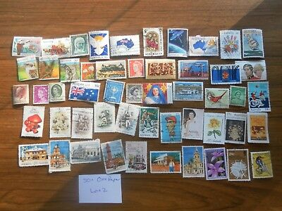 50+  used mixed AUSTRALIAN SHEET stamps off paper. Good variety. Lot 2