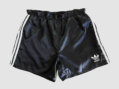Adidas Vintage Short Glanz Sprinter Nylon Shiny Hose Retro