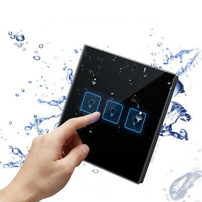 1/2/3/4Gang  Smart Light Wall Touch Switch Glass Panel Single/Dual Control