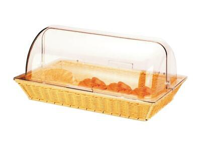 Commercial Bread Display Basket with Roll Top Hygiene Cover for Buffets,Cafes
