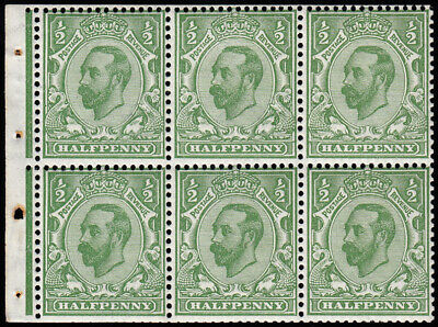 SG335Wi 1912 ½d. Green die 1b, wmk Royal Cypher (Simple) inverted. Very fine ...