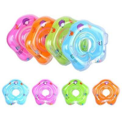 Infant Baby Bath Neck Inflatable Swimmer Ring Adjustable Safety Swim Rings AU
