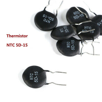 NTC 5D-15 Thermistor MF72 5 Ohm Thermally Sensitive Inrush Curent Limit Resistor