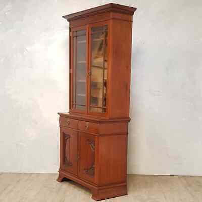 Antique Large Walnut Bookcase
