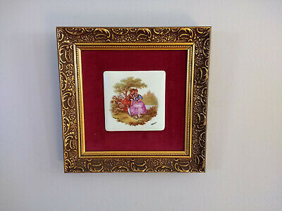 Vintage French Limoges Porcelain Wall Hanging Victorian Style Room Decor n1
