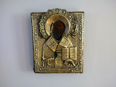 Antique Russian Orthodox Icon Religious Christian Wood Icon