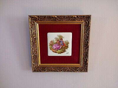 Vintage French Limoges Porcelain Wall Hanging Victorian Style Room Decor n2