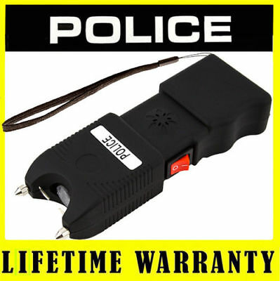 POLICE STUN GUN TW10 Rechargeable w/ Siren Alarm LED Flashlight + Taser Case