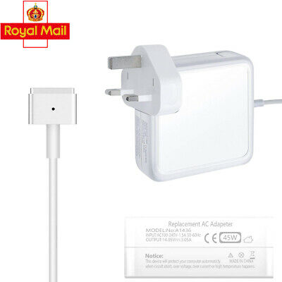 45W Power Adapter Charger For Apple MacBook Air Magsafe2 T-Tip 11&13 A1465 A1466