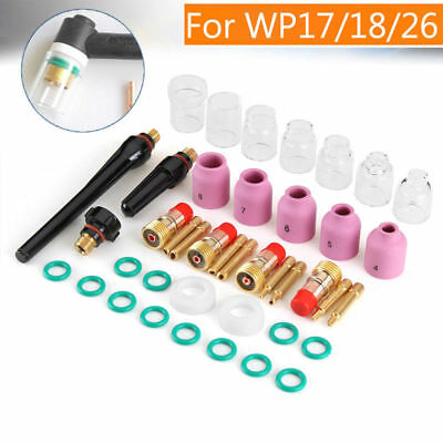 2019~49PCS Welding Torch Stubby Gas Lens Pyrex Glass Cup Kit For WP-17,18,26 TIG