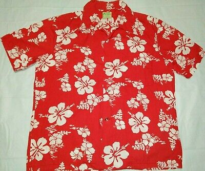 03faf49f9 VTG 1960S UI MAIKAI Plumeria Flower Palms Navy Blue & WHITE Hawaiian ...