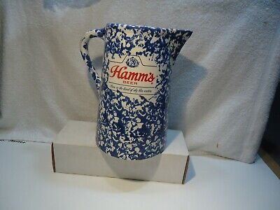 RARE  1950's Hamm's beer speckled pitcher advertising red wing