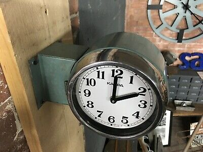 Vintage Industrial Reclaimed Salvaged Kappa Ship Wall Clock - Marine Salvage