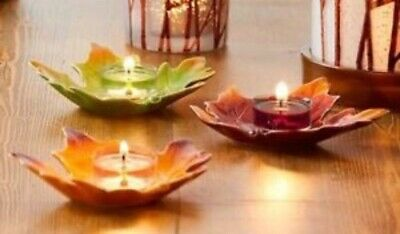 Party Lite Falling Leaves Tealight Trio P9929