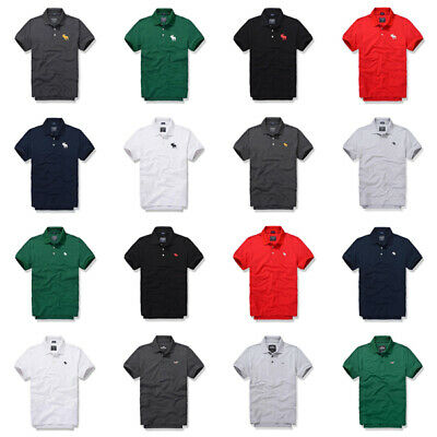 e1fe6521 2019 Abercrombie & Fitch A&F Summer Men Muscle fit Casual Polo shirt Size  ...