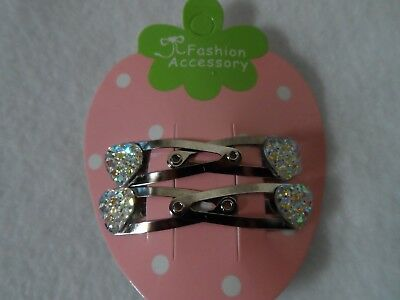 small/ mini hair clips, hair slides snap clips baby/girls princess/ hearts bow