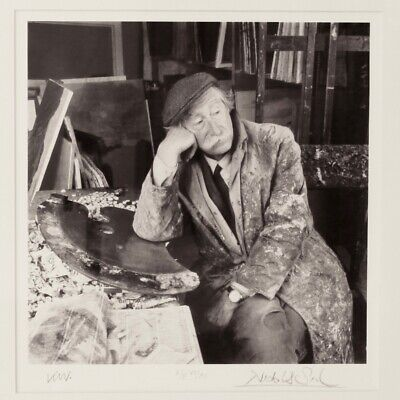 Sir Kyffin Williams Framed Photograph by Nicholas Sinclair Signed 20th Century