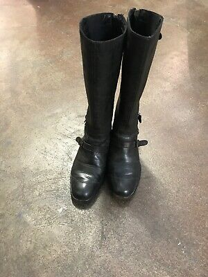 Vintage Woman's Belstaff Trialmaster 1955 Leather Antique Brown Boots Size 5/38