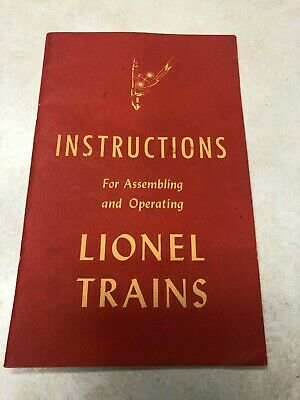 1947 Instructions for Assembling and Operating Lionel Trains Manual