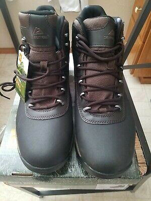 fef849b18dc OZARK TRAIL MENS Bronte Mid Waterproof Hiking Boots Brown Size 14 New