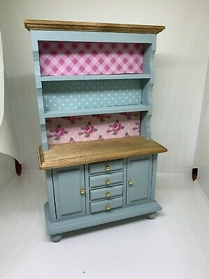 1:12th dolls house miniature hand painted Shabby Chic Patchwork Welsh Dresser