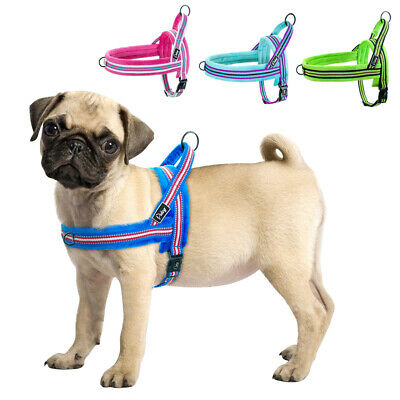 Reflective No Pull Dog Harness Front Leading Plush Vest for Small to Large Dogs