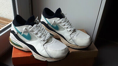 check out ef150 a6292 Nike Air Max 93 White Lazer Blue-Black Og 8 Us   7 Uk