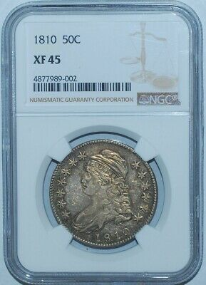 1810 NGC XF45 Capped Bust Half Dollar