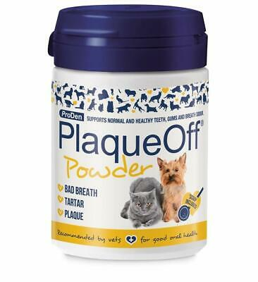 Plaque Off Dog + Cat Food Supplement Cleans Teeth Natural Product Granulated New