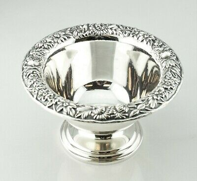 S. Kirk & Son Sterling Repousse Pedestal Compote Candy Dish Bowl  -  No Monogram