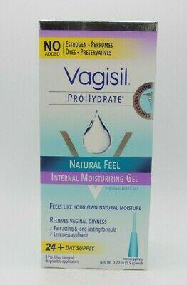 (2PK) Vagisil ProHydrate  Internal Vaginal Moisturizing Gel 8ct 01150906051WS
