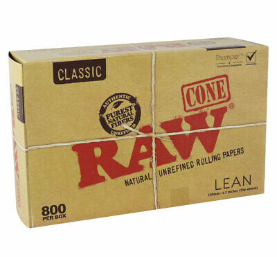 800pc Box - Raw Classic Bulk Lean Cones - 4.3""