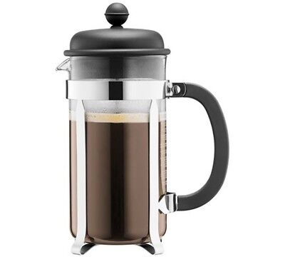 Bodum Cafetière à piston, 8 tasses, 1.0 l, acier inox French Press Coffee Maker