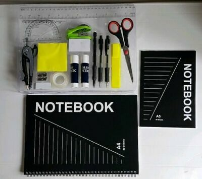 Back To School 20 Piece Pen and Gear Complete Stationery Set Carry Case RRP £10