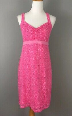 1e1a511918 Dakini Athletic Dress Sz M Pink Paisley Halter Straps Shelf Bra Stretch Knit