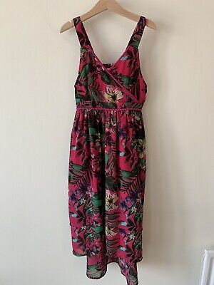 Girls Marks And Spencer's M&S Age 8-9 Pink Maxi Dress Floral