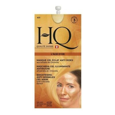 HQ Qualitè Suisse - Maschera Gel illuminante Antirughe 3 dosi 15 ml