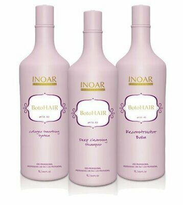 Inoar Professional - BotoHAIR For Keratin Treatment Steps 1-2-3  1 liter 33.8oz