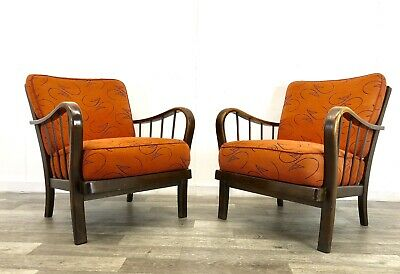 German Mid Century Armchairs Vintage/ late Art Deco Cocktail Chairs Easy Chairs