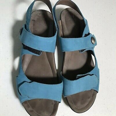 bf9b9f144c MEPHISTO Air Relax Women's EU40 Blue Suede Leather Strappy Comfort Sandal  Shoe