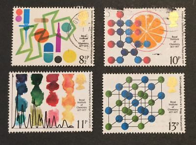 GB QEII- 1977 - Centenary of Royal Institute of Chemistry - Used - 19/110