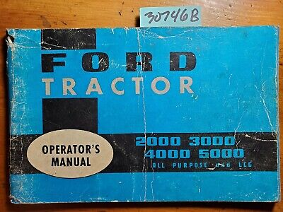 Ford 2000 2110 3000 4000 4110 5000 All Purpose & LCG Tractor Operator Manual '66