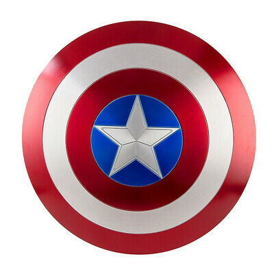 Hot Captain America Shield 1:1 Aluminum Metal Shield Cosplay Props Fast Shipping