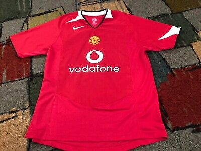79fcced49 NICE Vintage Nike 90 Manchester United Vodafone Football Soccer RED Jersey  Men M