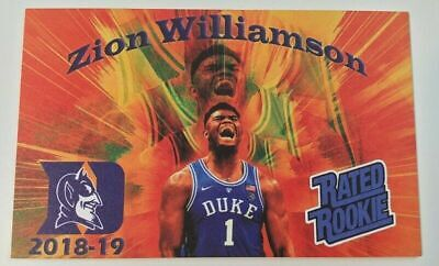 2018-19 Gold Metallic Zion Williamson Rookie Aceo Basketball Card+3D+PHENOM+AUTO