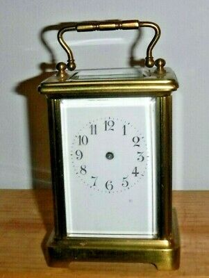 Antique Fancy French Brass Lantern / Carriage Clock Case Mvt. Etc. Brass & Glass