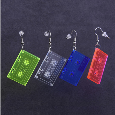 Fashion Women Candy Color Tape Acrylic Earrings Pendant Stud Dangle Drop Jewelry